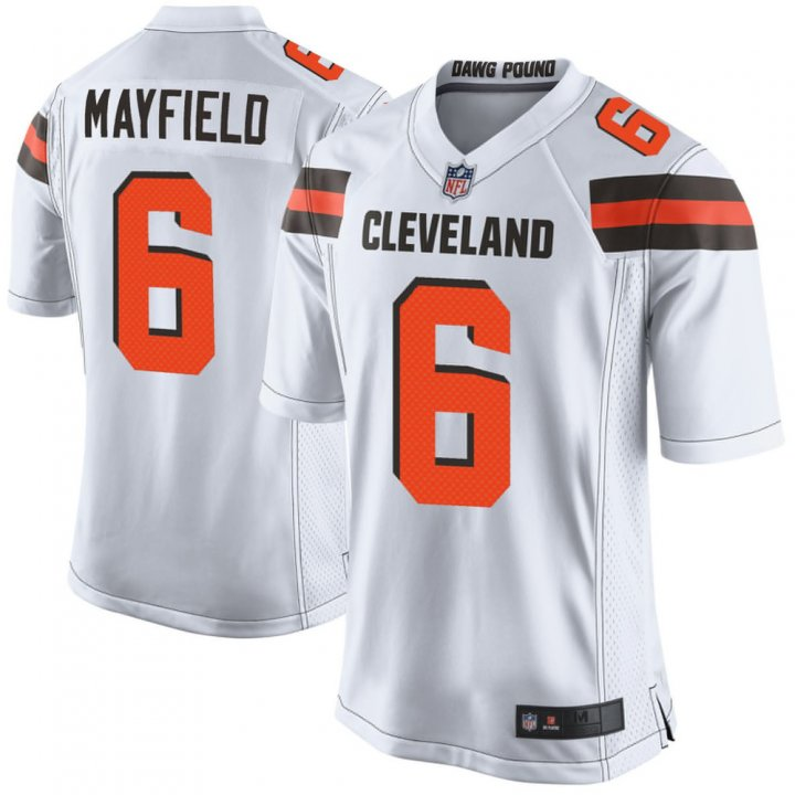 Franklin Sports Youth Kids 6 Baker Mayfield Cleveland Browns Jersey White