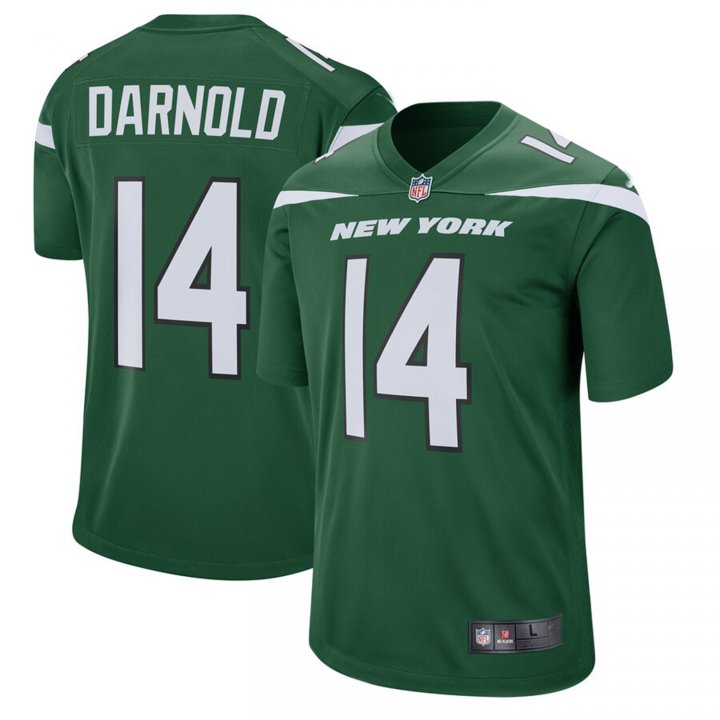 VF LSG Men's Sam Darnold #14 New York Jets Game Jersey - Gotham Green