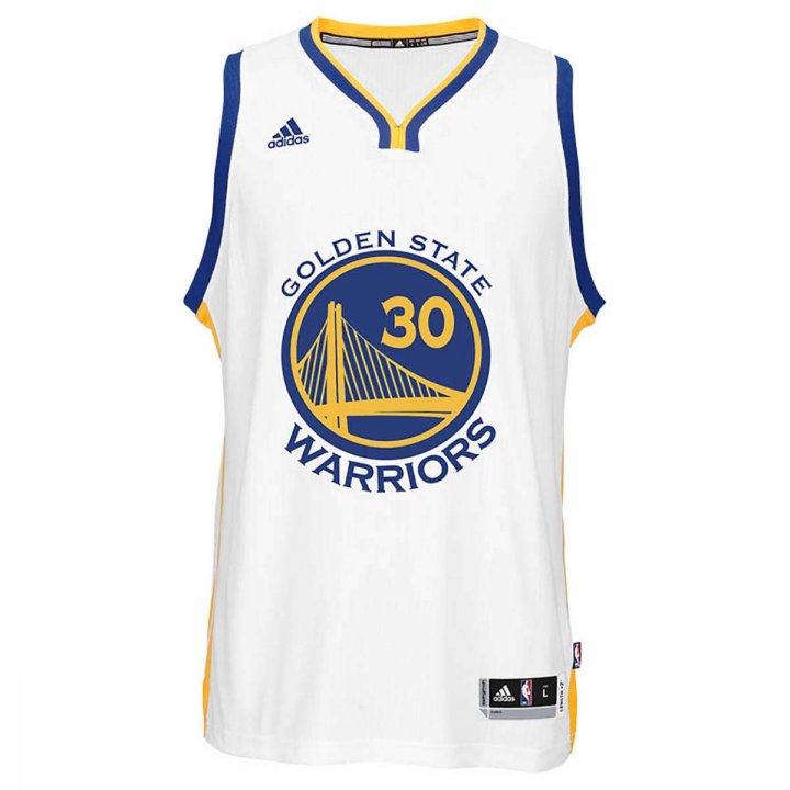 Golden State Warriors Adidas NBA Stephen Curry #30 Home Swingman Jersey (White)