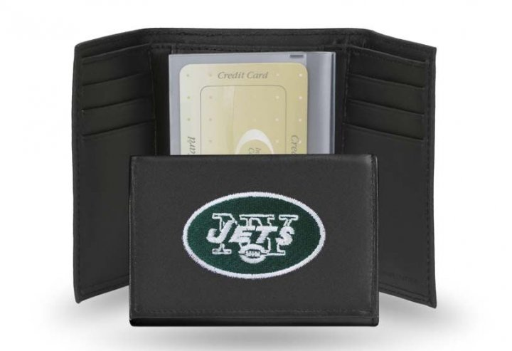 New York Jets NFL Leather Wallet (Black)