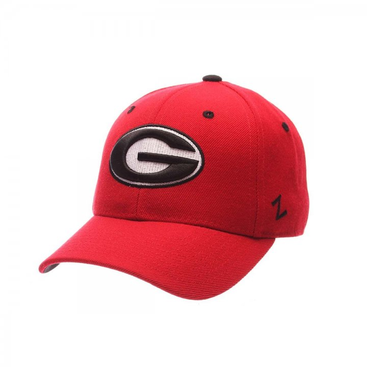 Georgia Bulldogs Zephyr NCAA Dh Fitted Hat (Red)