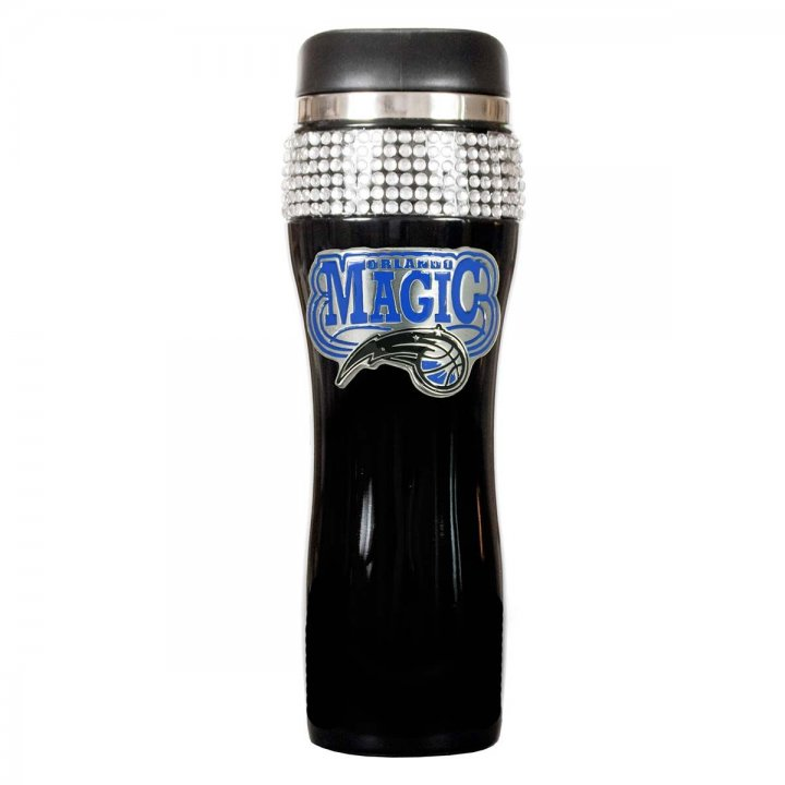 Orlando Magic NBA Orlando Magic Black Stainless Steel Bling Travel Tumbler (Black)