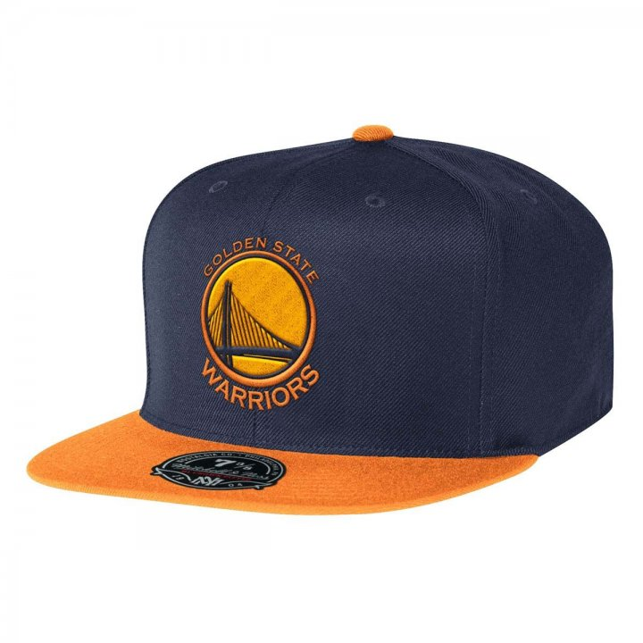Mitchell & Ness Golden State Warriors Current Throwback Fitted Hat (Navy)
