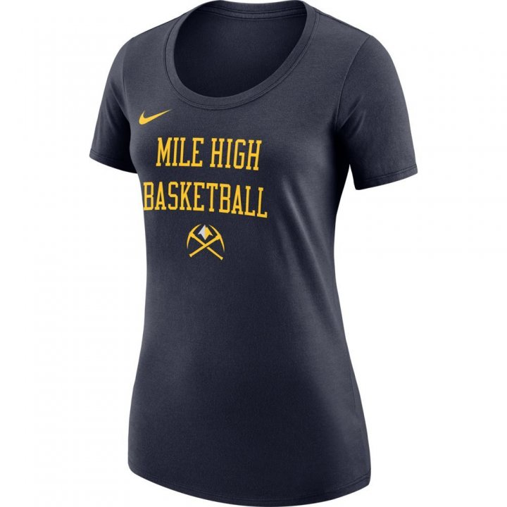 Denver Nuggets NBA Womens City Edition T-Shirt (Navy)