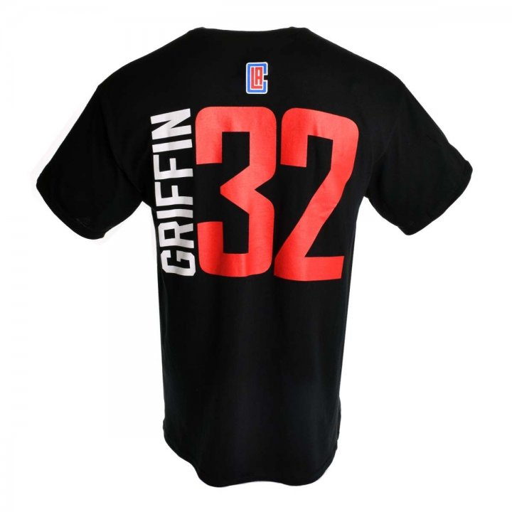 Los Angeles Clippers NBA Blake Griffin Vertical Name & Number T-Shirt (Black)