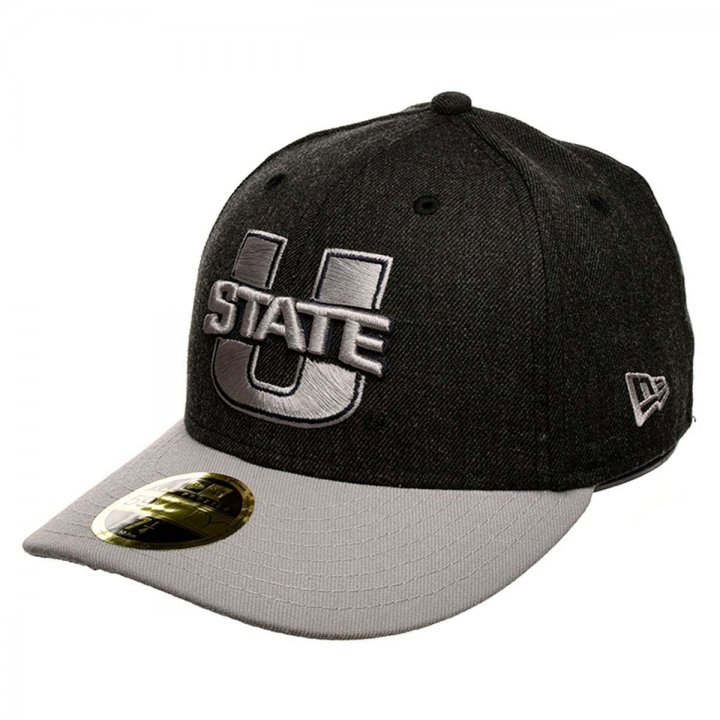 New Era Utah State Aggies The Scoll 2 59Fifty Fitted Hat (Black)
