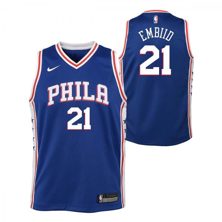 Philadelphia 76ers NBA Joel Embiid Youth Icon Swingman Jersey (Royal)