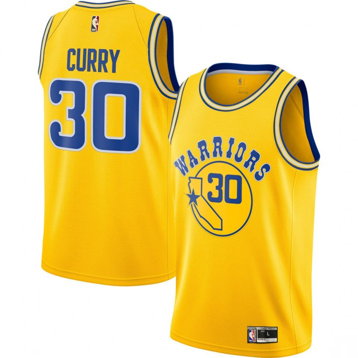 Franklin Sports Youth Kids 30 Stephen Curry Golden State Warriors Jersey Classics Gold