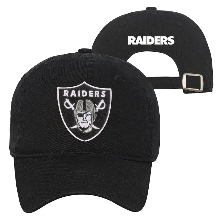 Oakland Raiders NFL Team Slouch Adjustable (Black)