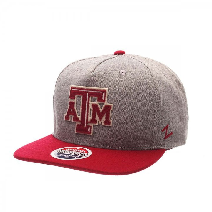 Texas A&M Aggies Boulevard Snapback Hat (Gray)