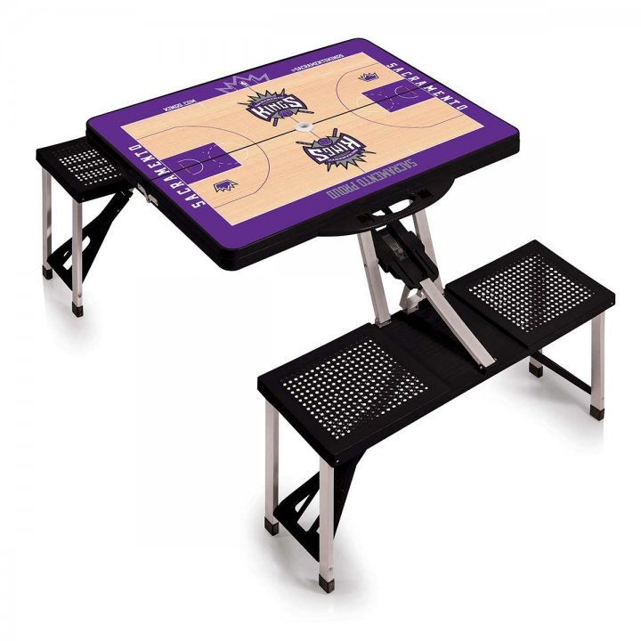 Sacramento Kings Portable Picnic Table with Sports Field Design