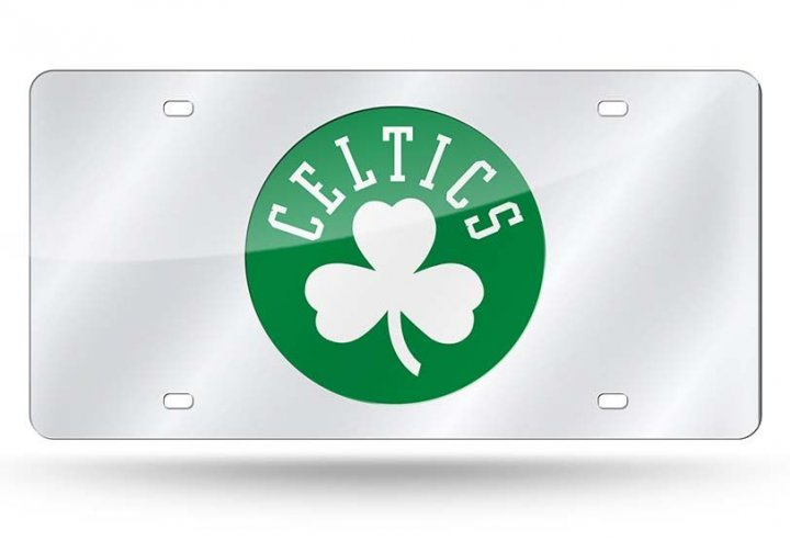 Boston Celtics NBA Laser Cut Alternate License Plate Tag
