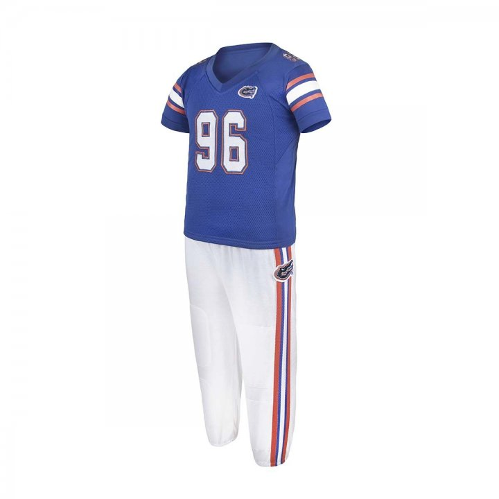 Florida Gators Toddler Two Piece Football Uniform Pajama Set (Blue)