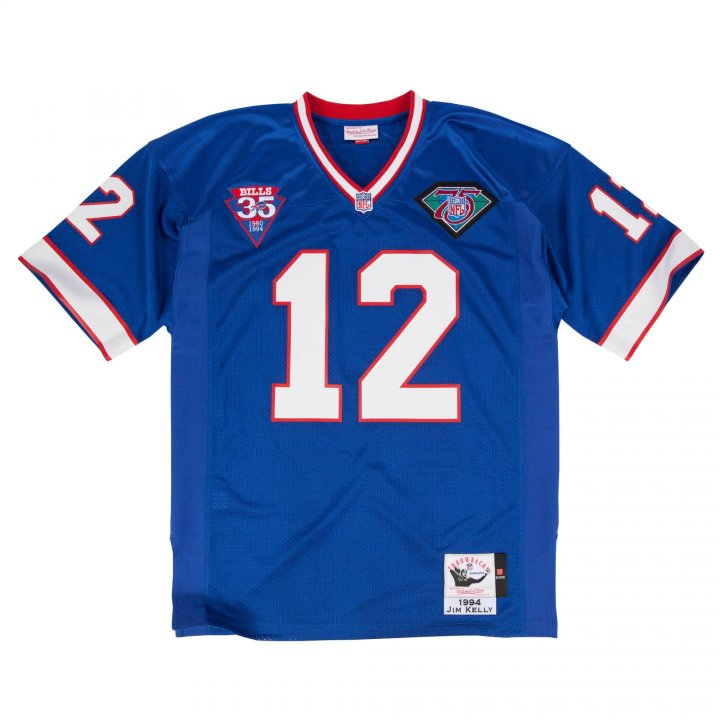 Franklin Sports Men's Jim Kelly 1994 Authentic #12 Buffalo Bills Jersey Royal