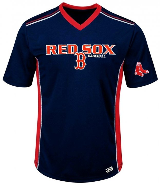 VF Boston Red Sox MLB Mens Cool Base Performance V Neck Jersey Navy Blue Big Sizes