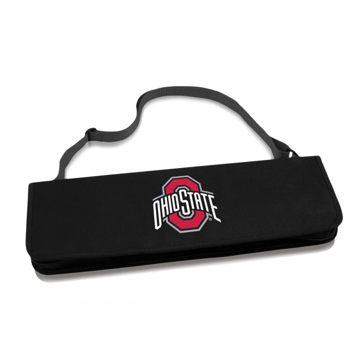 Ohio State Buckeyes Metro BBQ Tote and Tools Set (Black)