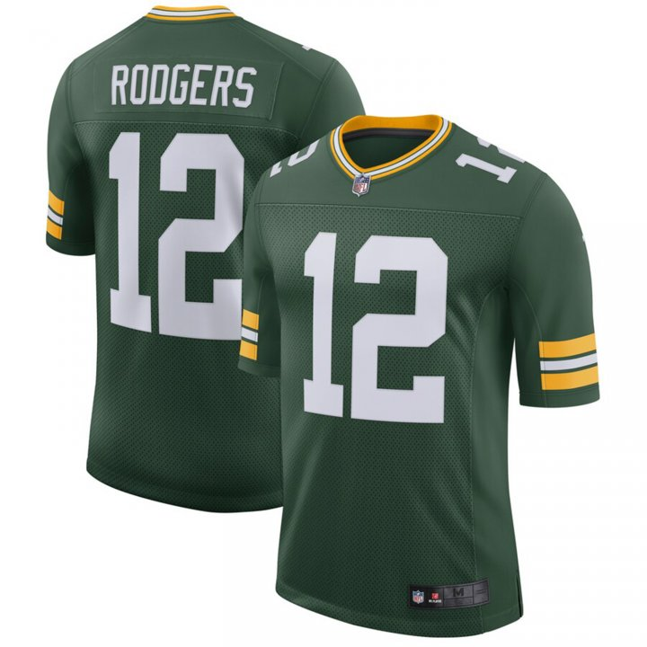 Franklin Sports Men's Aaron Rodgers #12 Green Bay Packers Classic Player Jersey - Green