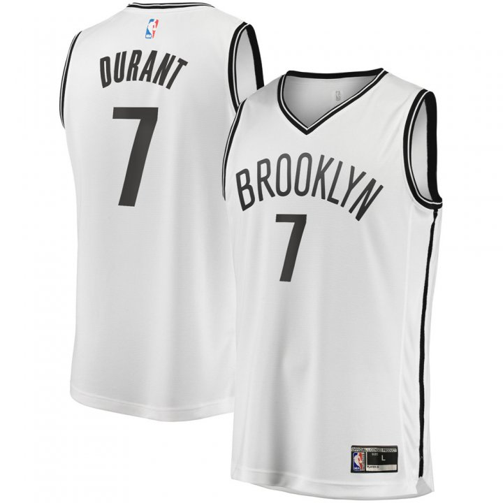 Franklin Sports Youth Kids 7 Kevin Durant Brooklyn Nets Jersey White