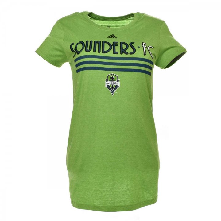Seattle Sounders MLS Drop Shadow Stripe Stack Tee (Green)
