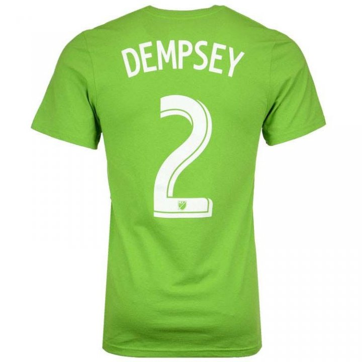 Seattle Sounders MLS Clint Dempsey Go To Player Name And Number Tee (Green)