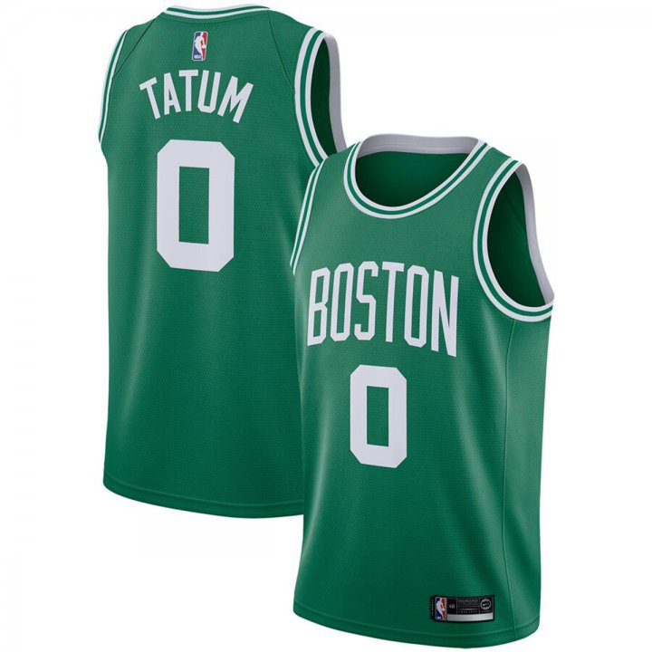 Franklin Sports Boston Celtics #0 Jayson Tatum Men's Green Swingman Jersey