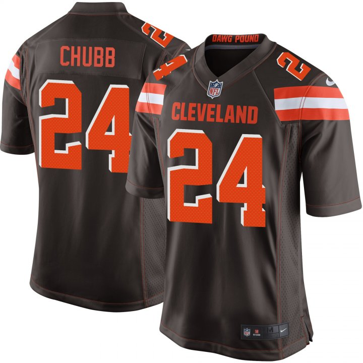 Outerstuff Youth Kids 24 Nick Chubb Cleveland Browns Jersey Brown