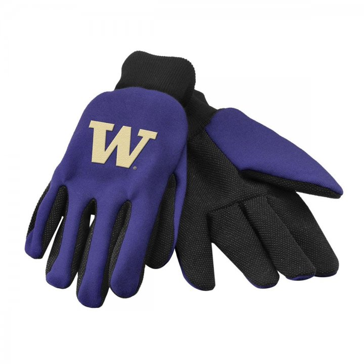 Washington Huskies Two Color Work Gloves