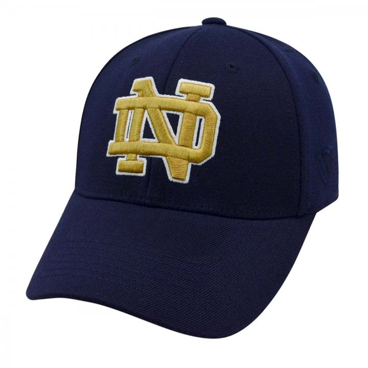 Notre Dame Fighting Irish 1 Fit Premium Stretch Fit Hat (Navy)