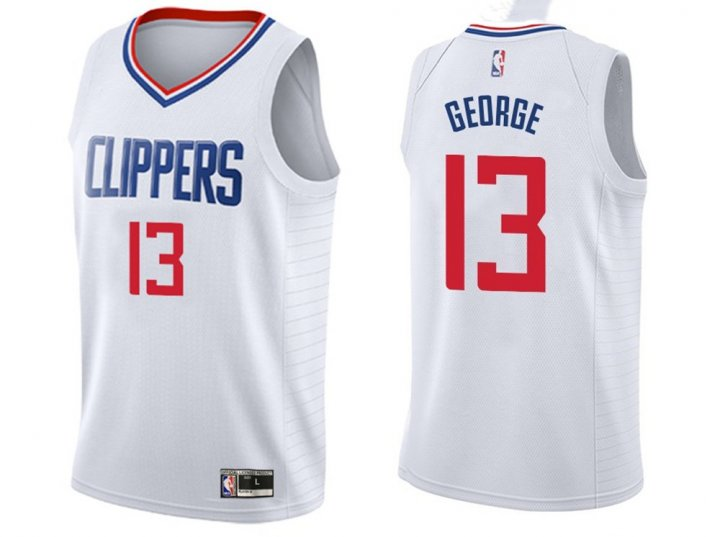 Franklin Sports Youth Kids 13 Paul George LA Clippers Jersey White