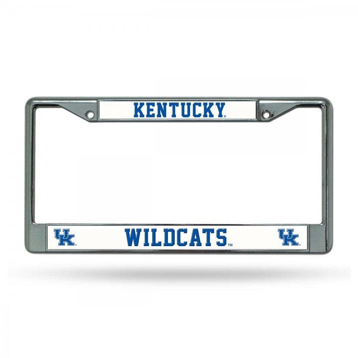Kentucky Wildcats NCAA Chrome License Plate Frame