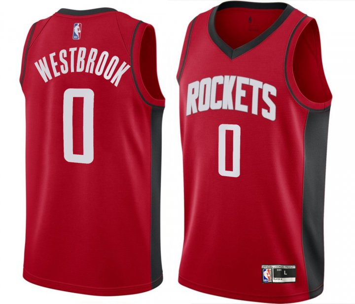 Franklin Sports Youth Kids 0 Russell Westbrook Houston Rockets Jersey Icon Red