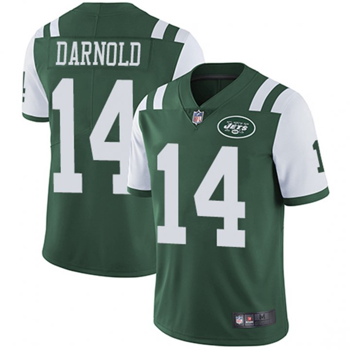 Outerstuff Men's Sam Darnold Green Men's Jersey - New York Jets #14 NFL Home Jersey