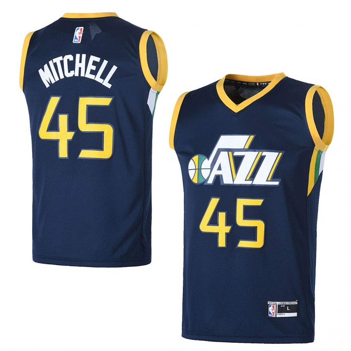 Outerstuff Youth Utah Jazz #45 Donovan Mitchell Kids Basketball Jersey Navy