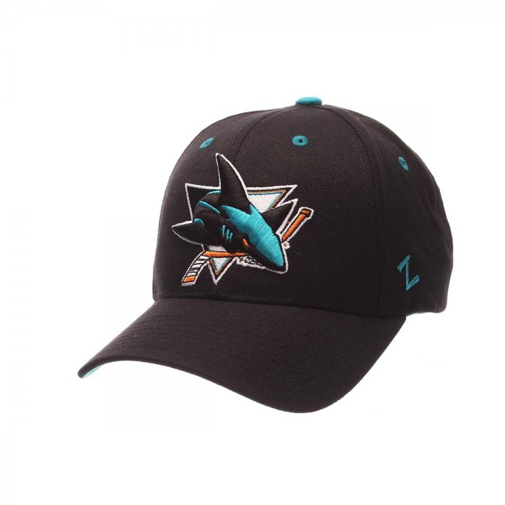San Jose Sharks Competitor Adjustable Hat (Black)