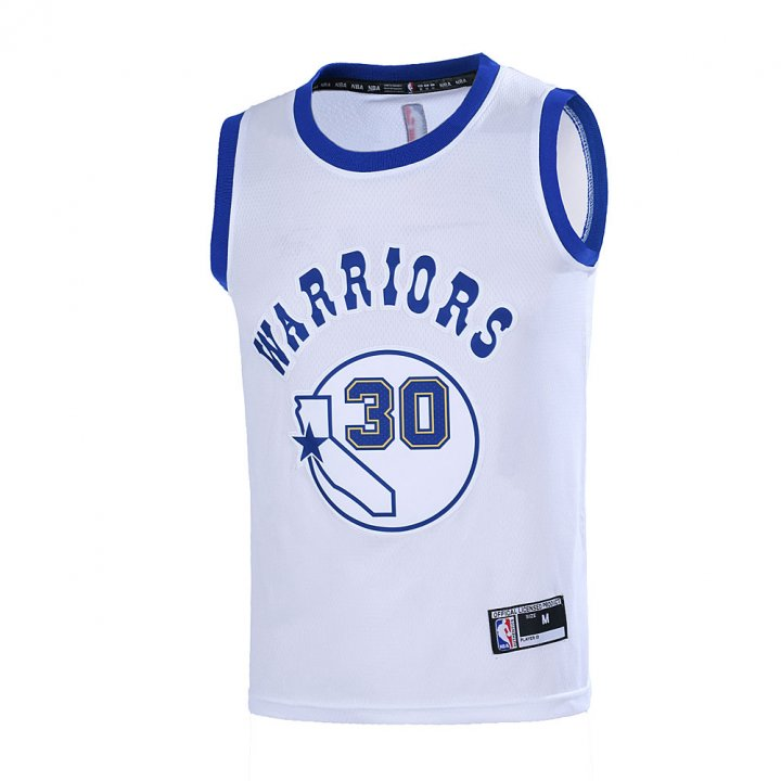 Outerstuff Youth 8-20 Golden State Warriors #30 Stephen Curry Jersey for Boys White