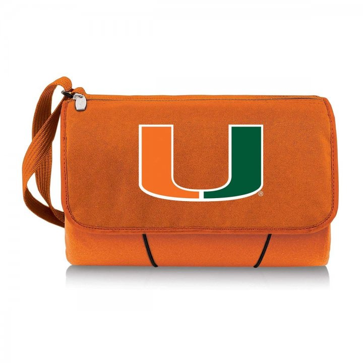 Miami Hurricanes Blanket Tote (Orange)