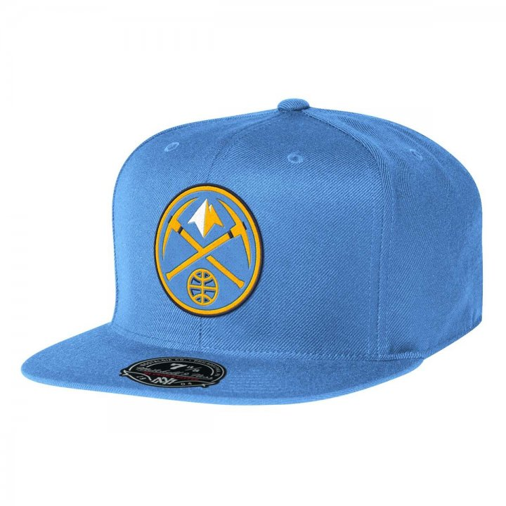 Mitchell & Ness Denver Nuggets Solid HC Fitted Hat (Blue)