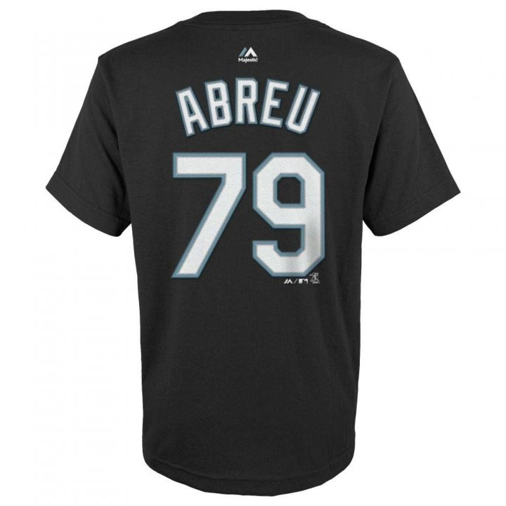 Jose Abreu Chicago White Sox Youth Player Name And Number T-Shirt (Black)