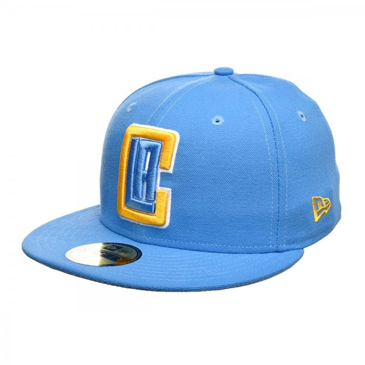 New Era Los Angeles Clippers Solid Color 59Fifty Fitted Hat (Blue)