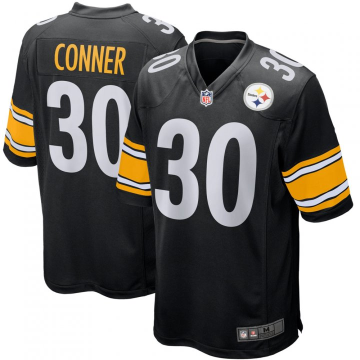 Franklin Sports Youth Kids 30 James Conner Pittsburgh Steelers Jersey Black