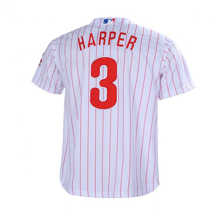 Outerstuff Youth 8-20 Bryce Harper Philadelphia Phillies Base Player Jersey White