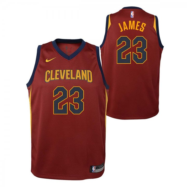 Cleveland Cavaliers NBA Lebron James Youth Icon Swingman Jersey (Maroon)