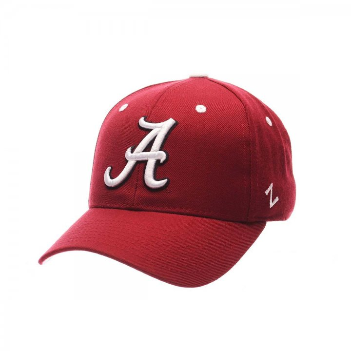 Alabama Crimson Tide Zephyr NCAA Dh Fitted Hat (Red)
