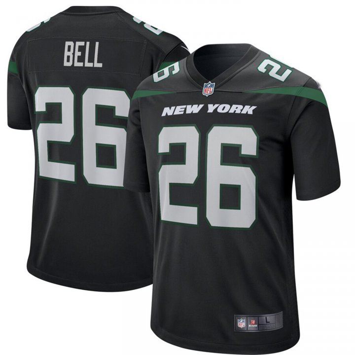 VF LSG Le'Veon Bell #26 New York Jets Game Jersey - Stealth Black