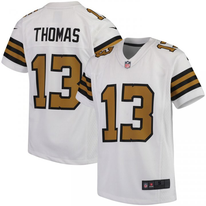 VF LSG Men's Michael Thomas #13 New Orleans Saints Player Jersey - White