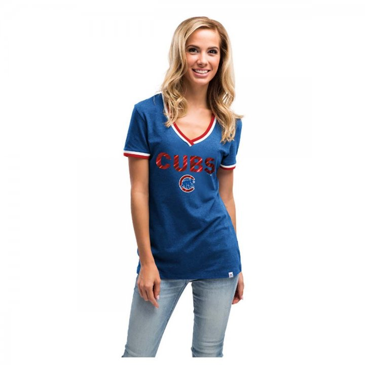Chicago Cubs MLB Womens Driven By Results T-Shirt (Royal)