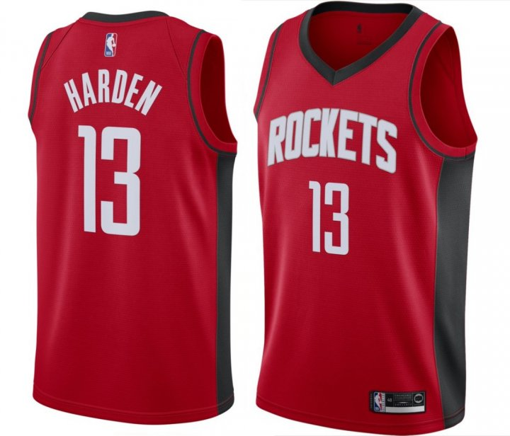 Franklin Sports Youth Kids 13 James Harden Houston Rockets Jersey Icon Red