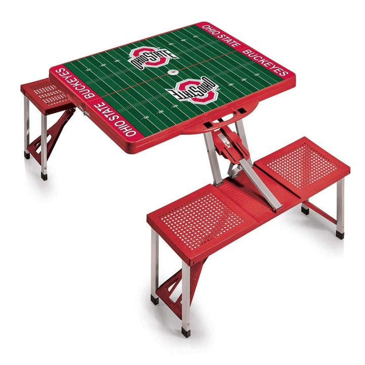 Ohio State Buckeyes Portable Picnic Table with Sports Field Design