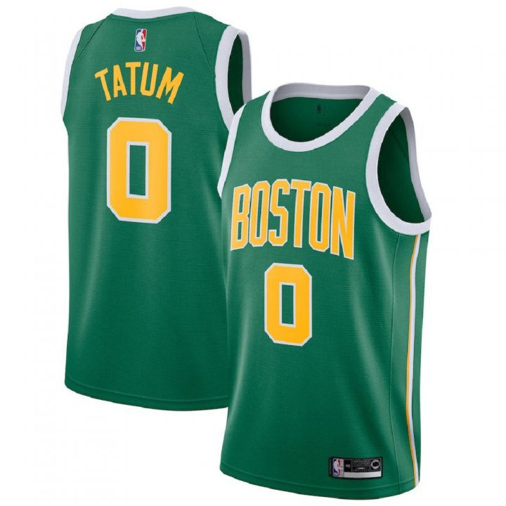 Majestic Athletic Jayson Tatum #0 Boston Celtics 2018-19 Swingman Men's Jersey Green