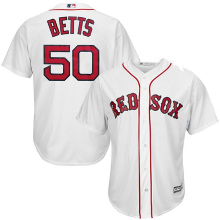 Outerstuff Youth Kids 50 Mookie Betts Boston Red Sox Baseball Jersey White